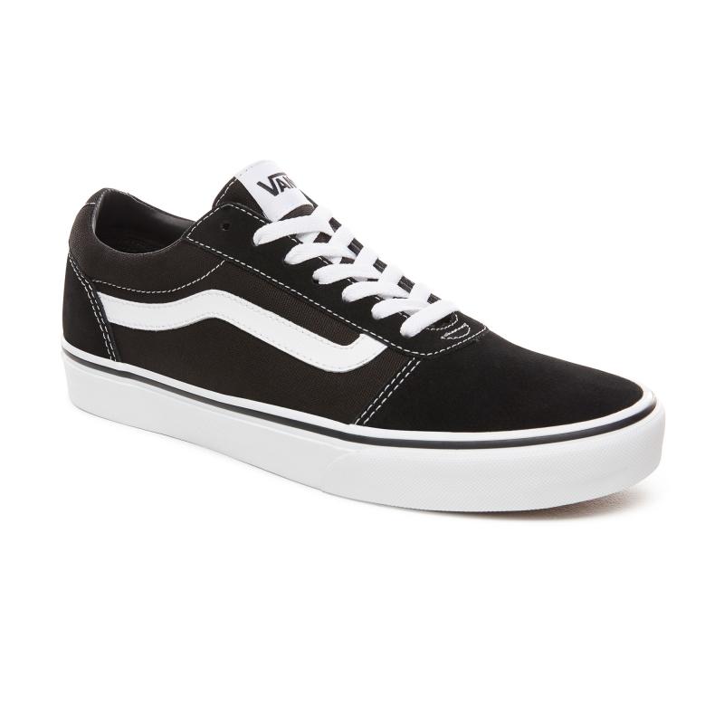 Pánska rekreačná obuv VANS-MN Ward-(Suede Canvas) black/whit -