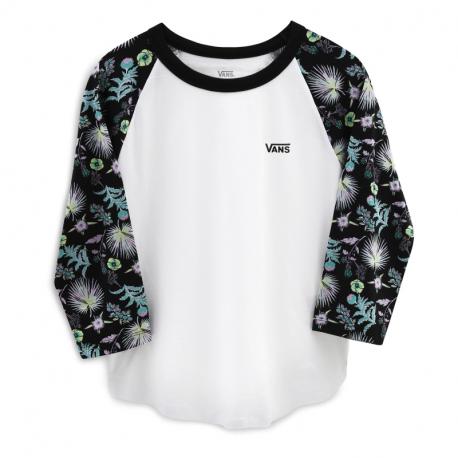 Dámské triko s dlouhým rukávem VANS-WM Calif WHITE / Calif B