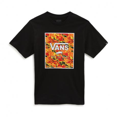 Chlapčenské tričko s krátkym rukávom VANS-BY PRINT BOX BOYS BLACK/FLAME CAM