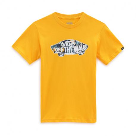 Chlapecké tričko s krátkým rukávem VANS-BY OTW LOGO FILL BOY SAFFRON / Calif