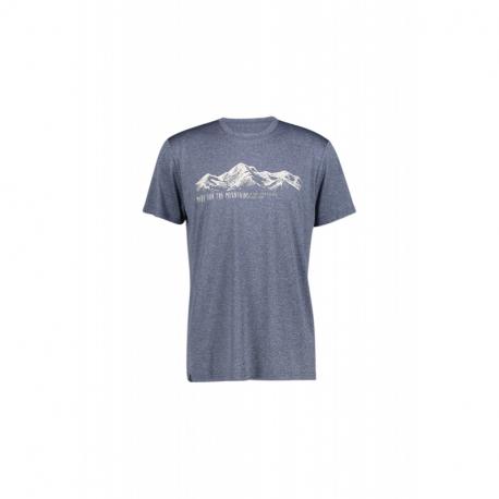 Pánske turistické tričko s krátkym rukávom FIVE SEASONS-CHELAN TOP M-ENSIGN BLUE MELANGE