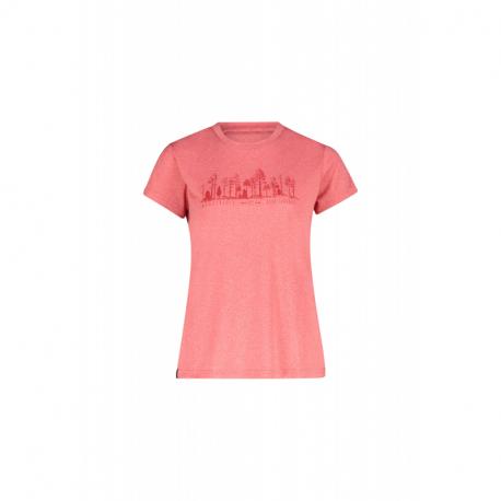 Dámské turistické tričko s krátkým rukávem FIVE SEASONS-DIXIE TOP W-PARADISE PINK MELANGE