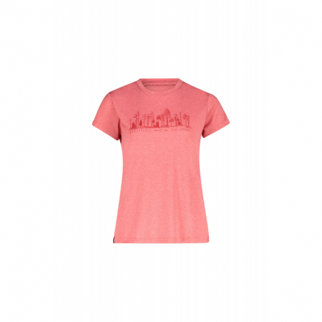 Dámske turistické tričko s krátkym rukávom FIVE SEASONS-DIXIE TOP W-PARADISE PINK MELANGE