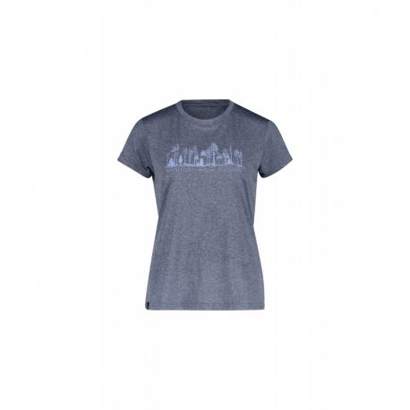 Dámské turistické tričko s krátkým rukávem FIVE SEASONS-DIXIE TOP W-ENSIGN BLUE MELANGE