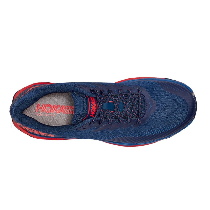 Pánska bežecká trailová obuv HOKA ONE ONE-Torrent 2 moonlit ocean/red -