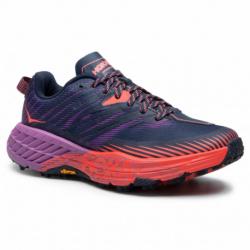 Dámska bežecká trailová obuv HOKA ONE ONE-Speedgoat 4 outer space/hot coral