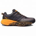 Pánska bežecká trailová obuv HOKA ONE ONE-Speedgoat 4 black iris/bright marigold -