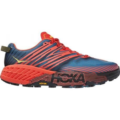 Pánska bežecká trailová obuv HOKA ONE ONE-Speedgoat 4 fiesta/blue