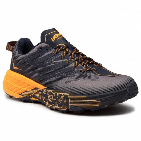 Pánska bežecká trailová obuv HOKA ONE ONE-Speedgoat 4 black iris/bright marigold (EX)