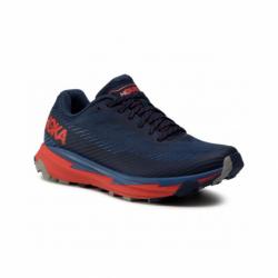 Pánska bežecká trailová obuv HOKA ONE ONE-Torrent 2 moonlit ocean/red (EX)