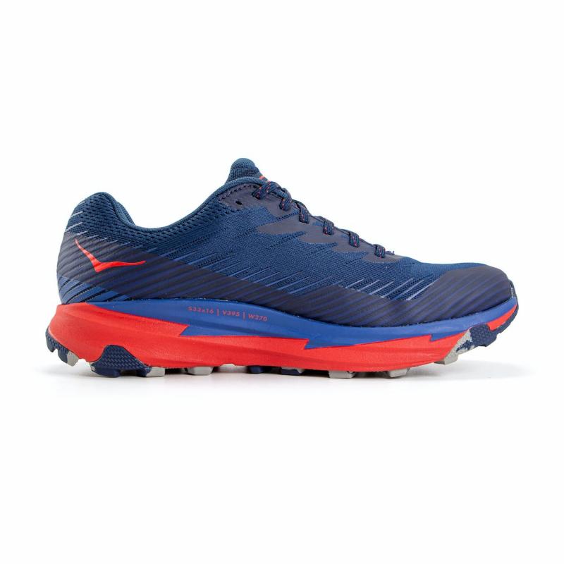 Pánska bežecká trailová obuv HOKA ONE ONE-Torrent 2 moonlit ocean/red (EX) -