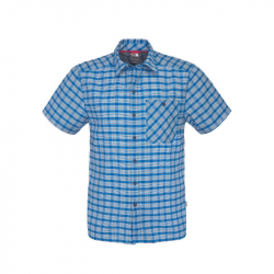 Pánska turistická košeľa s krátkym rukáv NORTH FACE-M S/S HYPRESS SHIRT DRUMMER BLUE PLAID