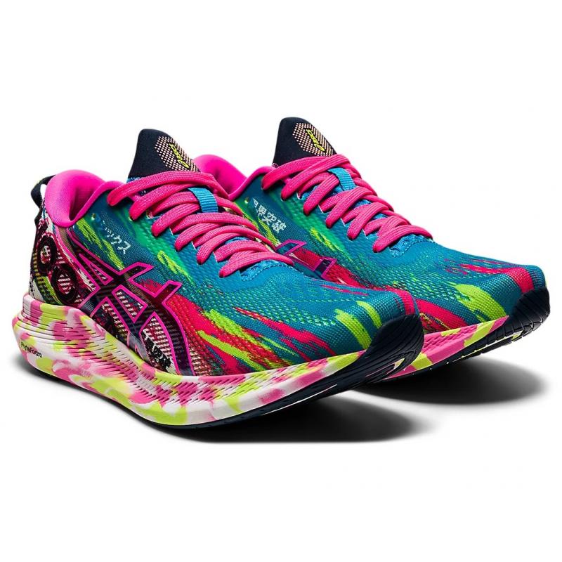 Dámská běžecká obuv ASICS-Noosa Tri 13 digital aqua / hot pink -