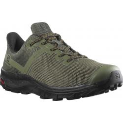 Pánska nízka turistická obuv SALOMON-OUTline Prism GTX lichen green