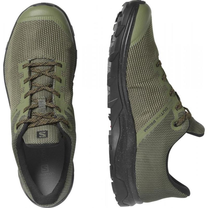 Pánska nízka turistická obuv SALOMON-OUTline Prism GTX lichen green -