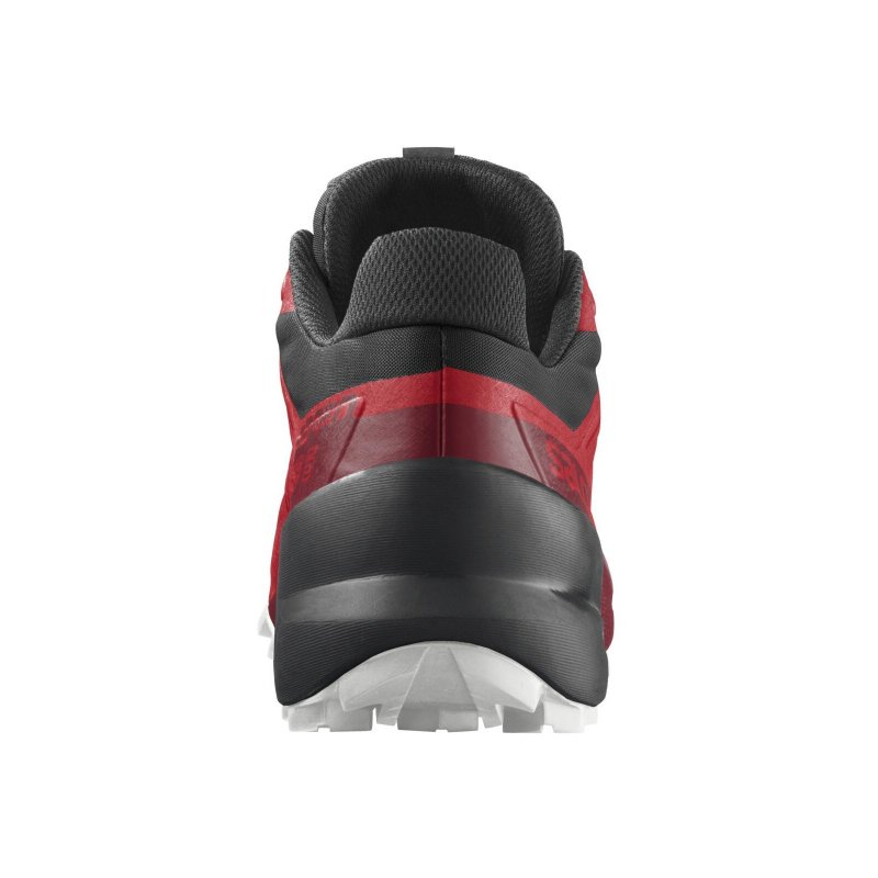 Pánska bežecká trailová obuv SALOMON-Speedcross 5 goji berry/white/black -