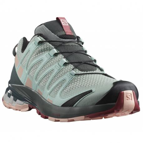 Dámská běžecká trailová obuv Salomon-XA PRO 3D V8 W aqua gray / urban chic / tropical peach