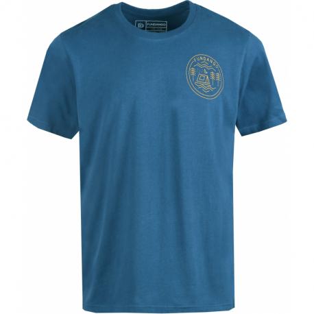 Pánské turistické tričko s krátkým rukávem FUNDANGO-Basic T Logo 1-482-moonlight