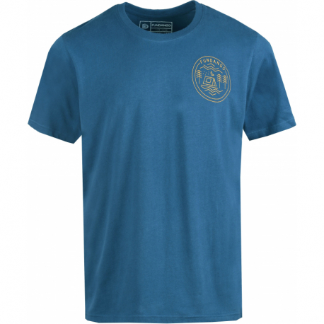 Pánske turistické tričko s krátkym rukávom FUNDANGO-Basic T Logo 1-482-moonlight