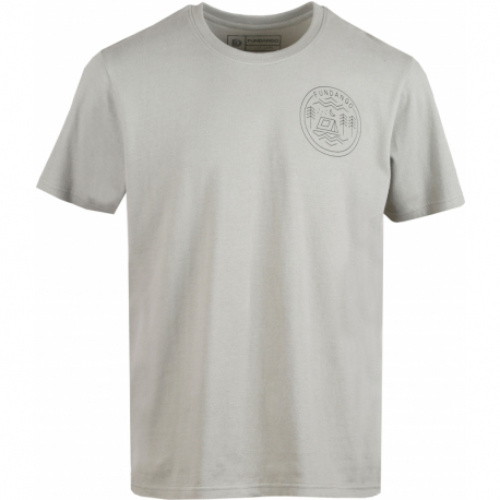 Pánské turistické tričko s krátkým rukávem FUNDANGO-Basic T Logo 1-535-light khaky