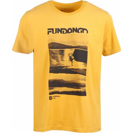 Pánské turistické tričko s krátkým rukávem FUNDANGO-Basic T Logo 3-270-orange