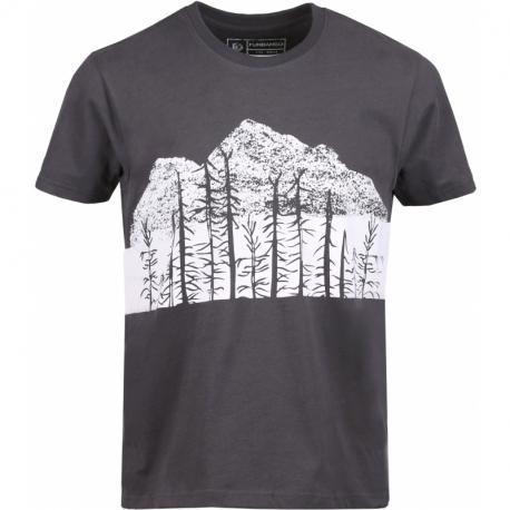 Pánské turistické tričko s krátkým rukávem FUNDANGO-Basic T Logo 5-780-antracit