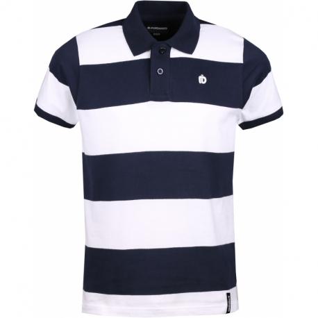 Pánske polo tričko s krátkym rukávom FUNDANGO-Incognito stripe-486-patriot blue