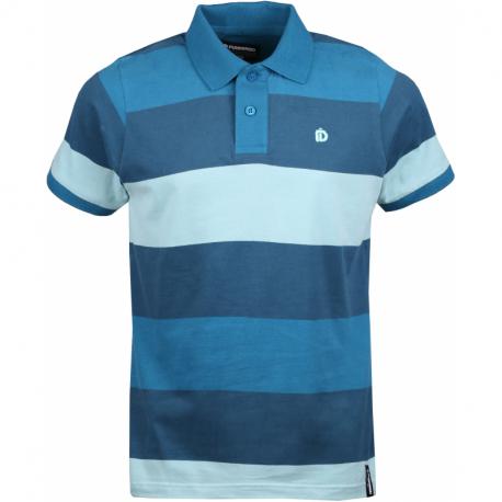 Pánske polo tričko s krátkym rukávom FUNDANGO-Incognito stripe-521-pool green