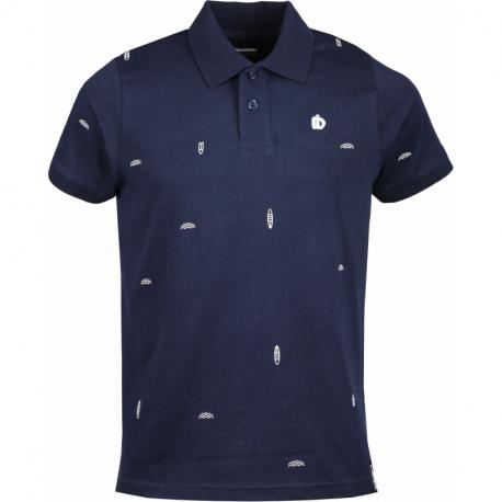 Pánske polo tričko s krátkym rukávom FUNDANGO-Incognito-488-indigo
