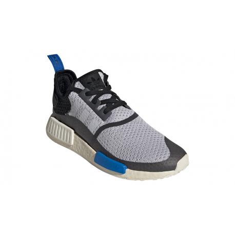 Pánská rekreační obuv ADIDAS ORIGINALS-NMD_R1 dash grey / core black / glow blue