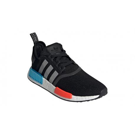 Pánska rekreačná obuv ADIDAS ORIGINALS-NMD_R1 core black/silver metallic/solar red