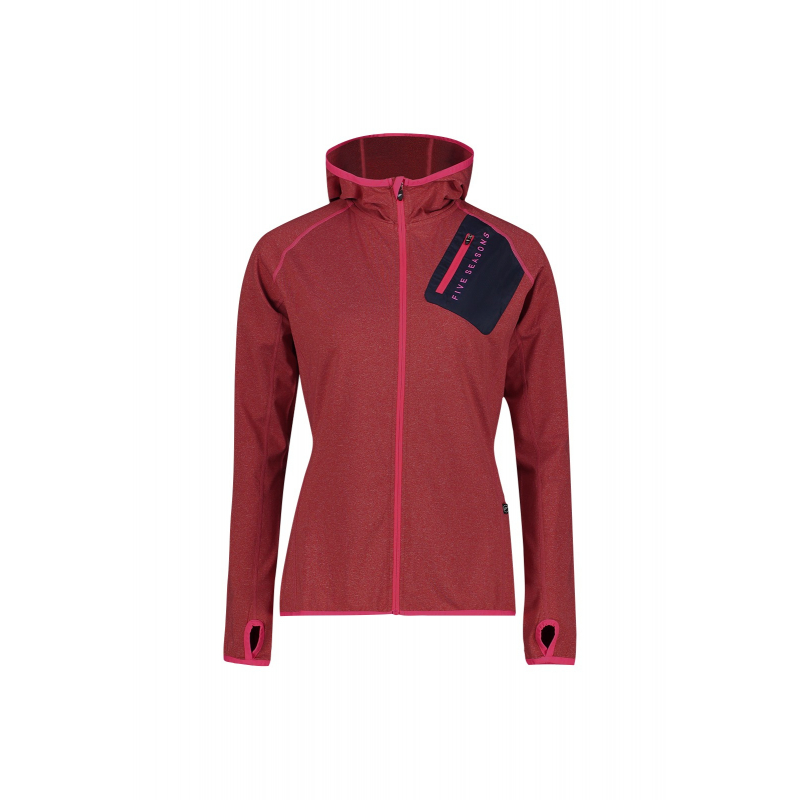FIVE SEASONS-SAM JKT W-BLOSSOM RED MELANGE Červená XL