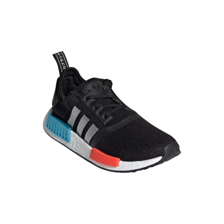 Juniorská rekreační obuv ADIDAS ORIGINALS-NMD_R1 core JR black / silver metallic / solar red