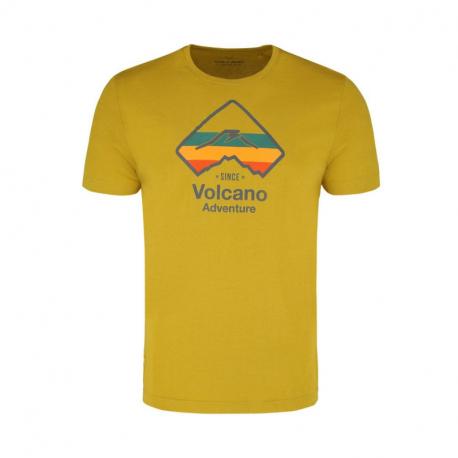 Pánske turistické tričko s krátkym rukávom VOLCANO-T-DRAFT-Yellow