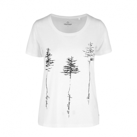 Dámske turistické tričko s krátkym rukávom VOLCANO-T-REES-White