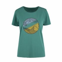 Dámske turistické tričko s krátkym rukávom VOLCANO-T-AURORA-Blue