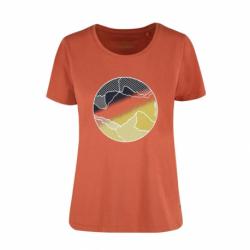 Dámske turistické tričko s krátkym rukávom VOLCANO-T-AURORA-Salmon