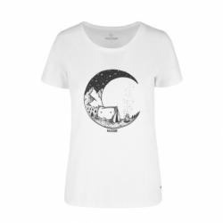 Dámske turistické tričko s krátkym rukávom VOLCANO-T-MOONFUEL-White