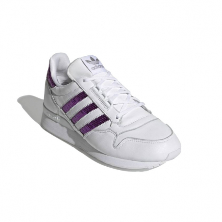 Dámská vycházková obuv ADIDAS ORIGINALS-ZX 500 cloud white / shock purple / cloud white