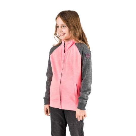 Dievčenská mikina so zipsom SAM73-ELLEN-118-Pink