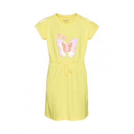 Dievčenské šaty SAM73-MIKILO-213SM-Yellow