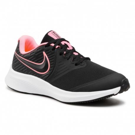 Juniorská sportovní obuv (tréninková) NIKE-Star Runner 2 black / sunset pulse / black / white
