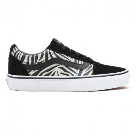 Dámská vycházková obuv VANS-WM Ward MTLC ZBR black / white