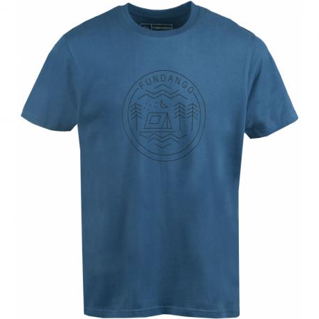 Pánske turistické tričko s krátkym rukávom FUNDANGO-Basic T Logo 7-482-moonlight