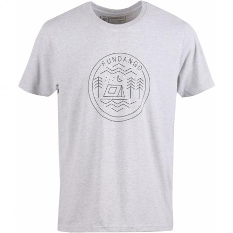 Pánske turistické tričko s krátkym rukávom FUNDANGO-Basic T Logo 7-745-gray heather