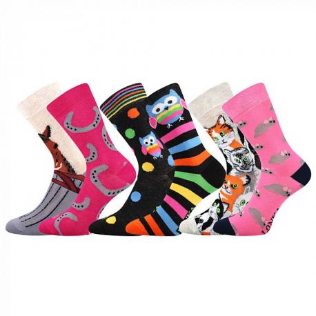 Dívčí ponožky vedlejším rámečku-Doblik-Black