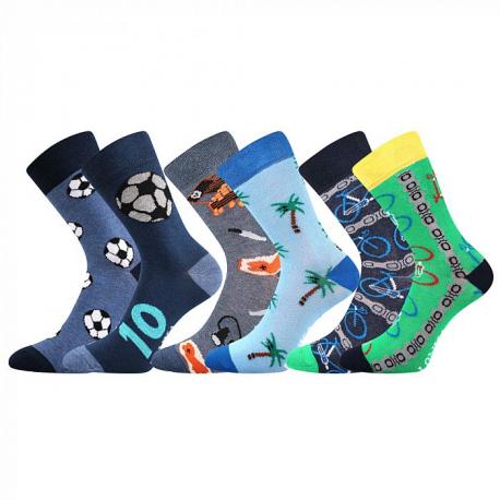 Chlapecké ponožky vedlejším rámečku-Doblik-Blue / Blue