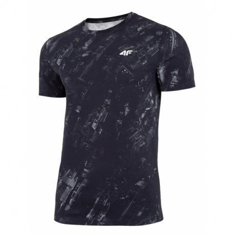 Pánske tričko s krátkym rukávom 4F-MENS T-SHIRT-H4L21-TSM017-31A-NAVY ALLOVER
