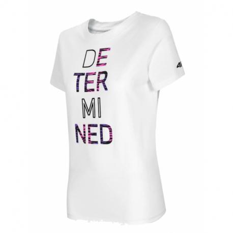 Dámské triko s krátkým rukávem 4F-WOMENS T-SHIRT-H4L21-TSD018-10S-WHITE