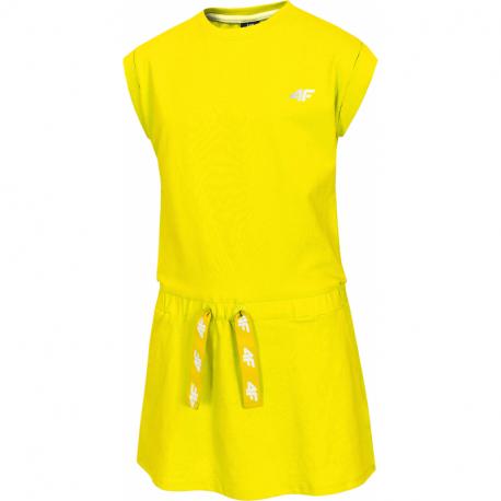 Dívčí šaty 4F-GIRLS-dress-HJL21-JSUDD001A-71S-Yellow